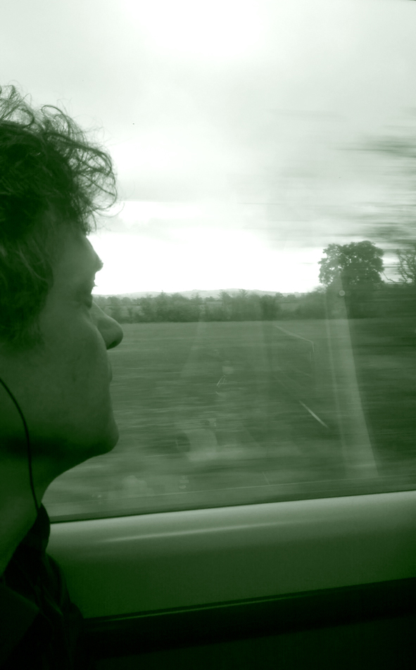 Akis Boyatzis; on the train returning from Bristol