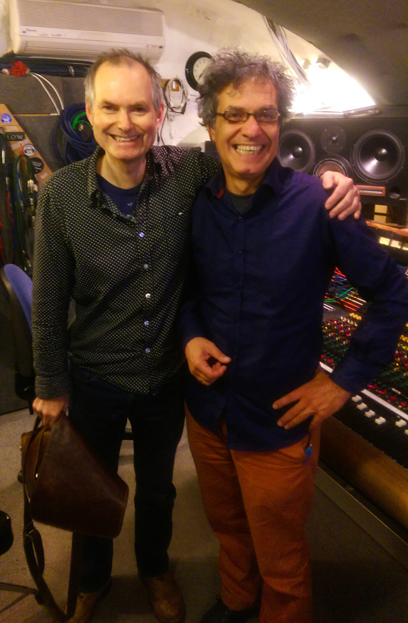 John Parish and Akis Boyatzis in Toybox studio (Bristol, UK)